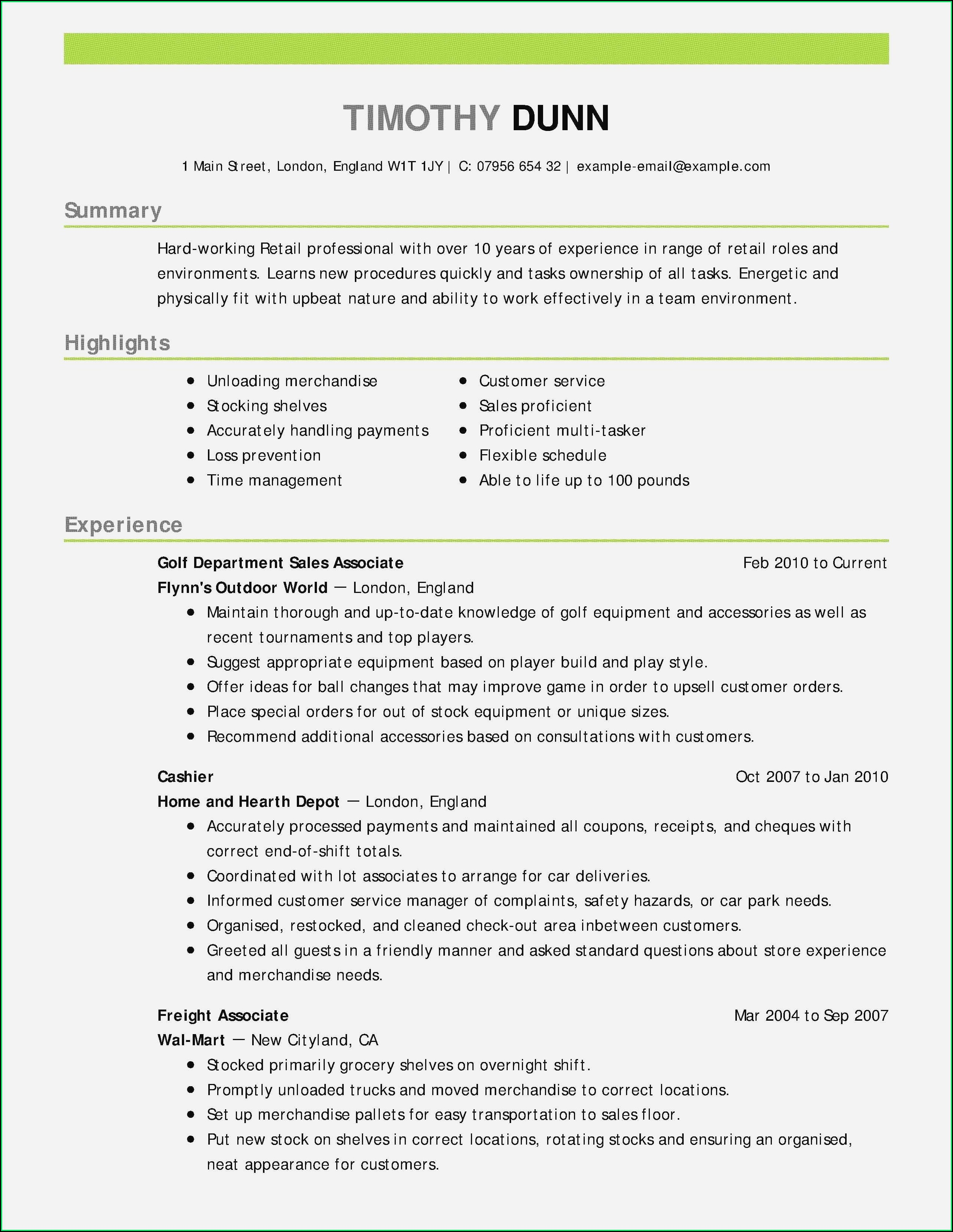 Free Blank Professional Resume Templates
