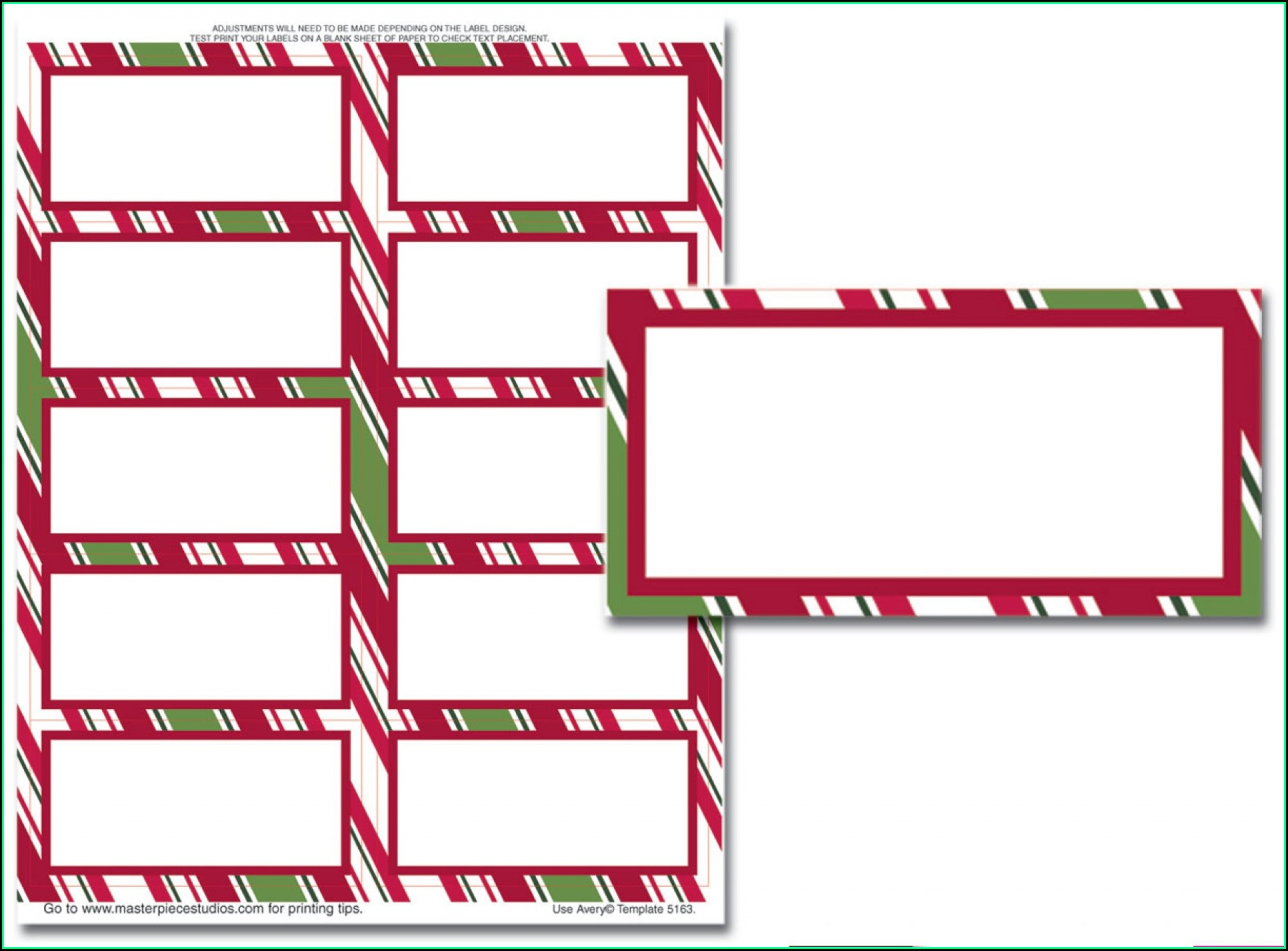 Free Christmas Address Label Templates Microsoft Word