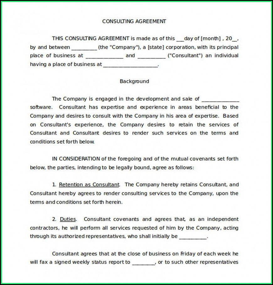 Free Consulting Agreement Template Uk