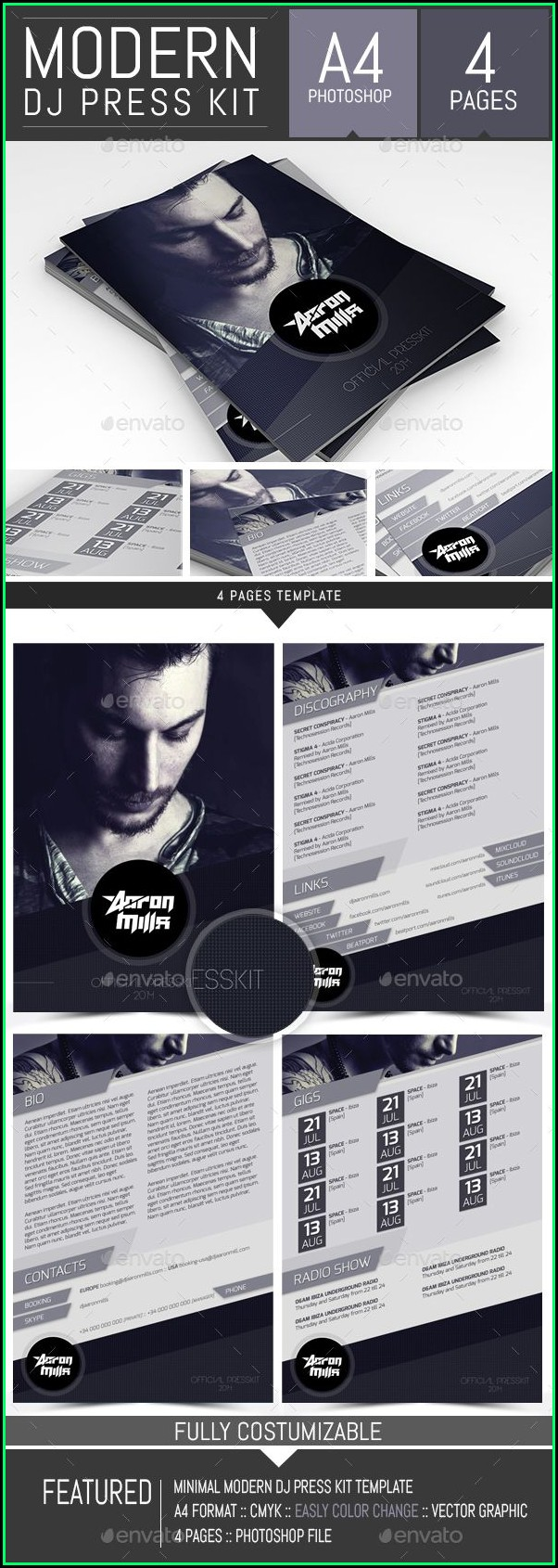Free Dj Press Kit Template Download
