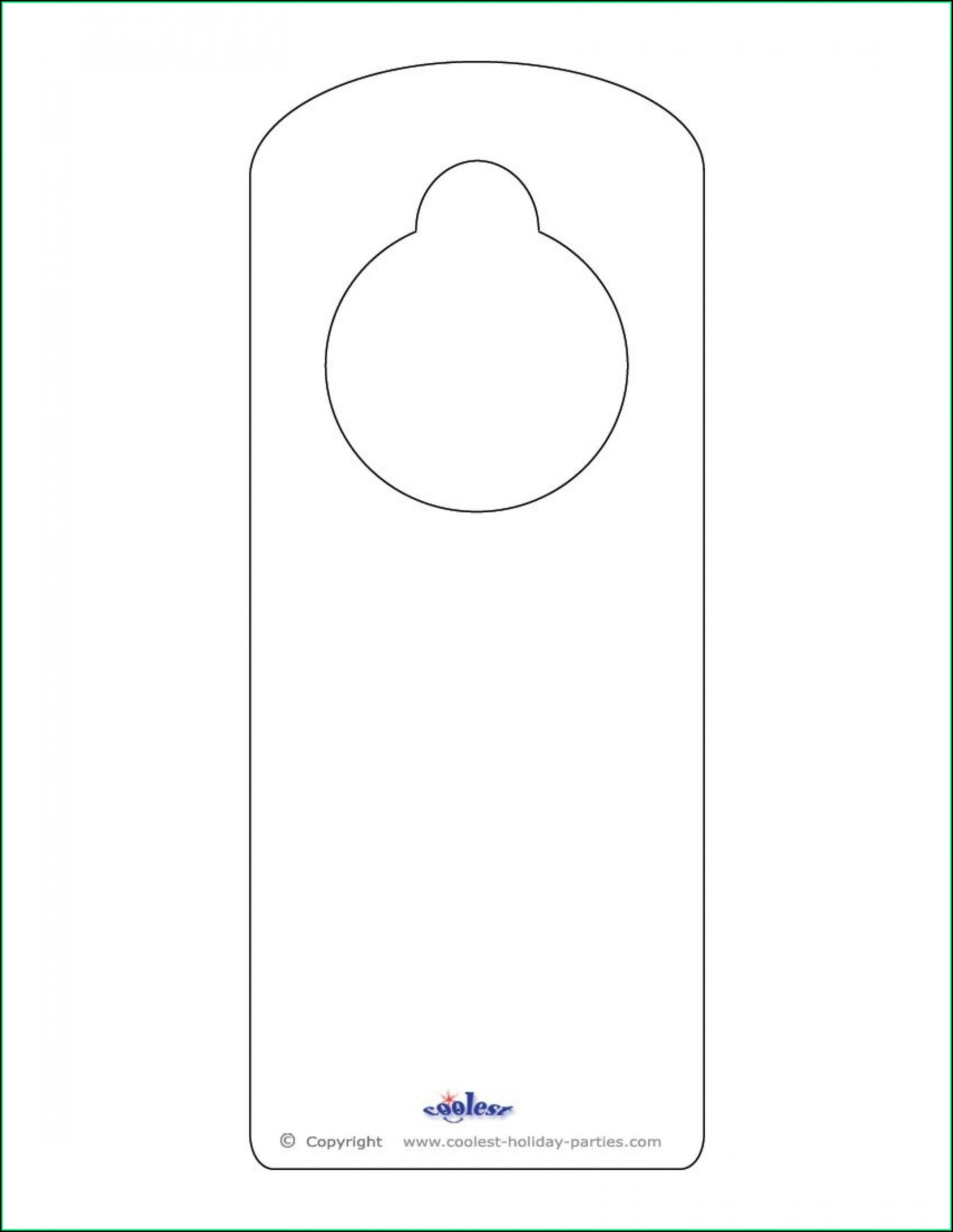 Free Door Hanger Templates For Word