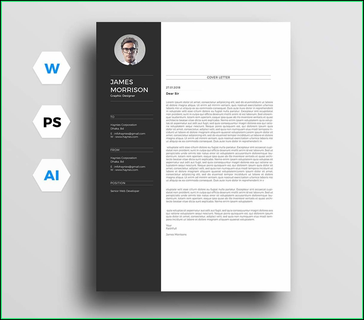 Free Downloadable Cover Letter Template