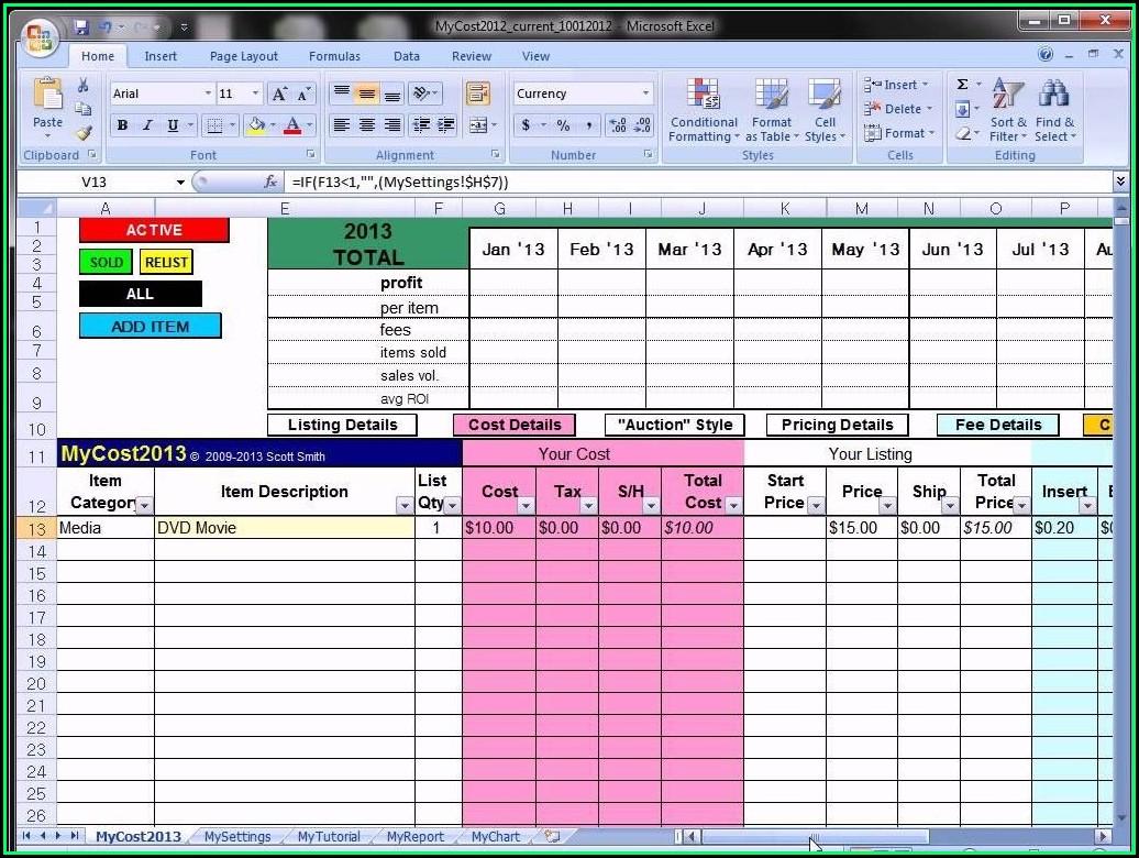 Free Ebay Inventory Spreadsheet Template