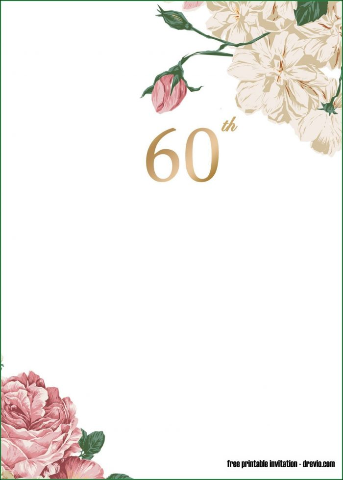 Free Editable 60th Birthday Invitations Templates