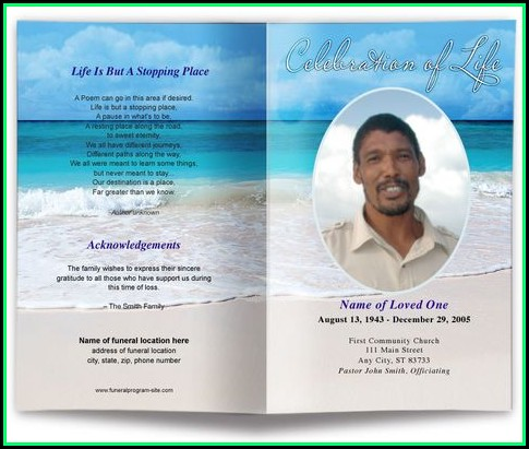 Free Editable Memorial Service Program Template
