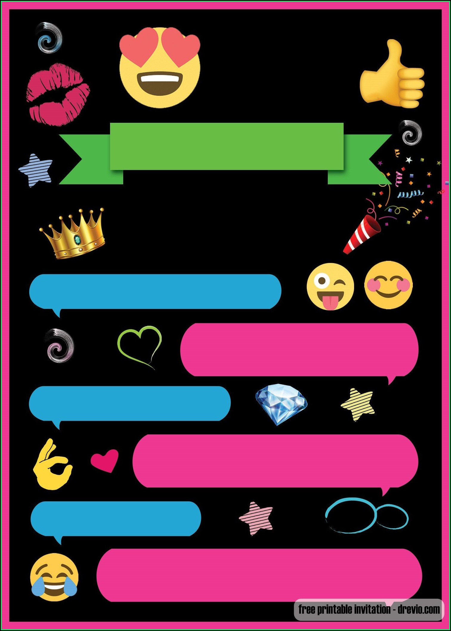 Free Emoji Party Invitation Template