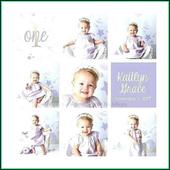 Free First Birthday Collage Template