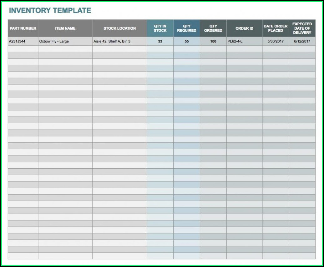 Free Inventory Spreadsheet Template Google Sheets