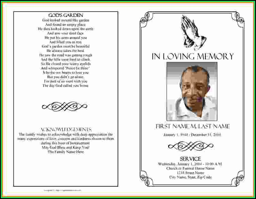 Free Memorial Service Program Template Microsoft Word