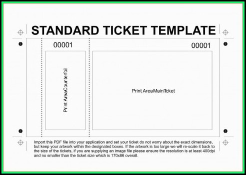 Free Movie Ticket Invitation Template For Word