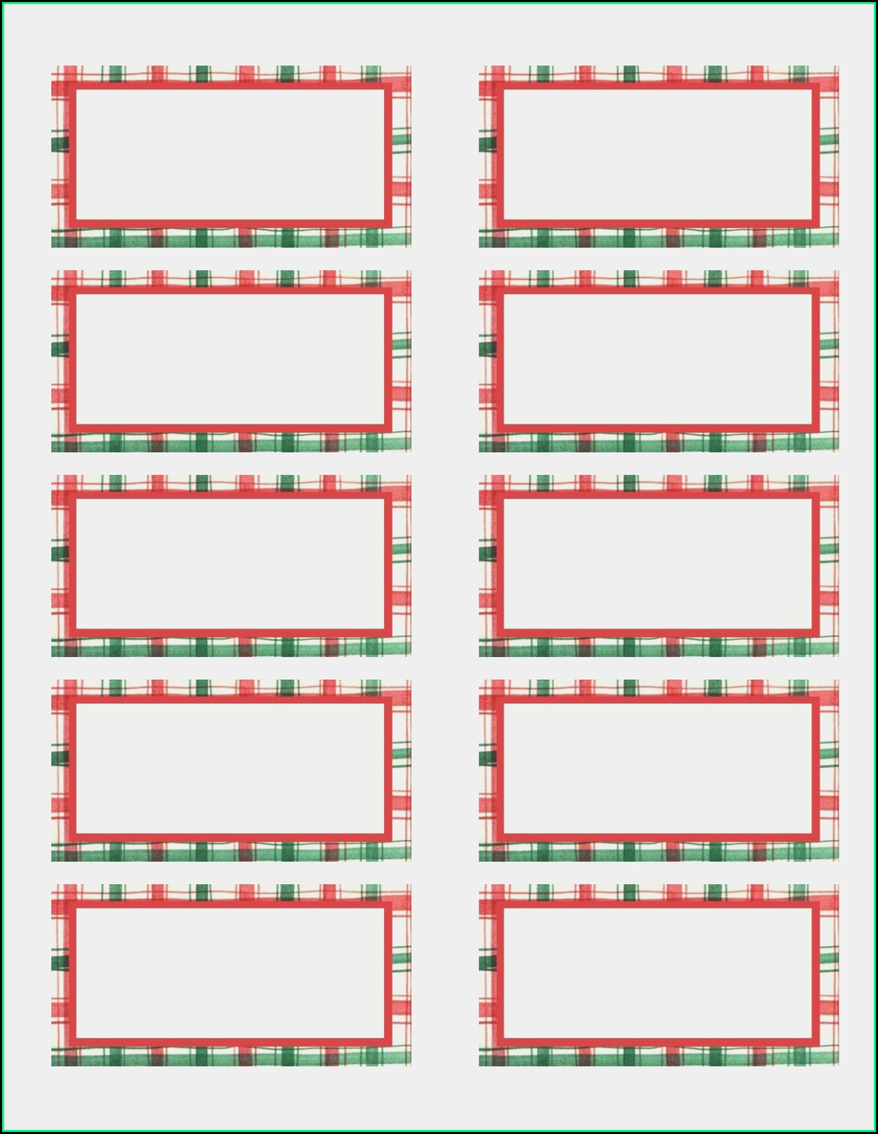 Free Printable Christmas Return Address Label Templates