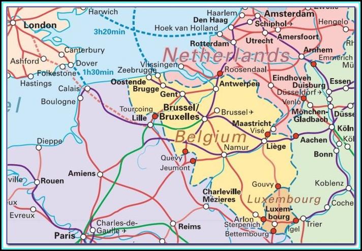 Ghent Railway Map