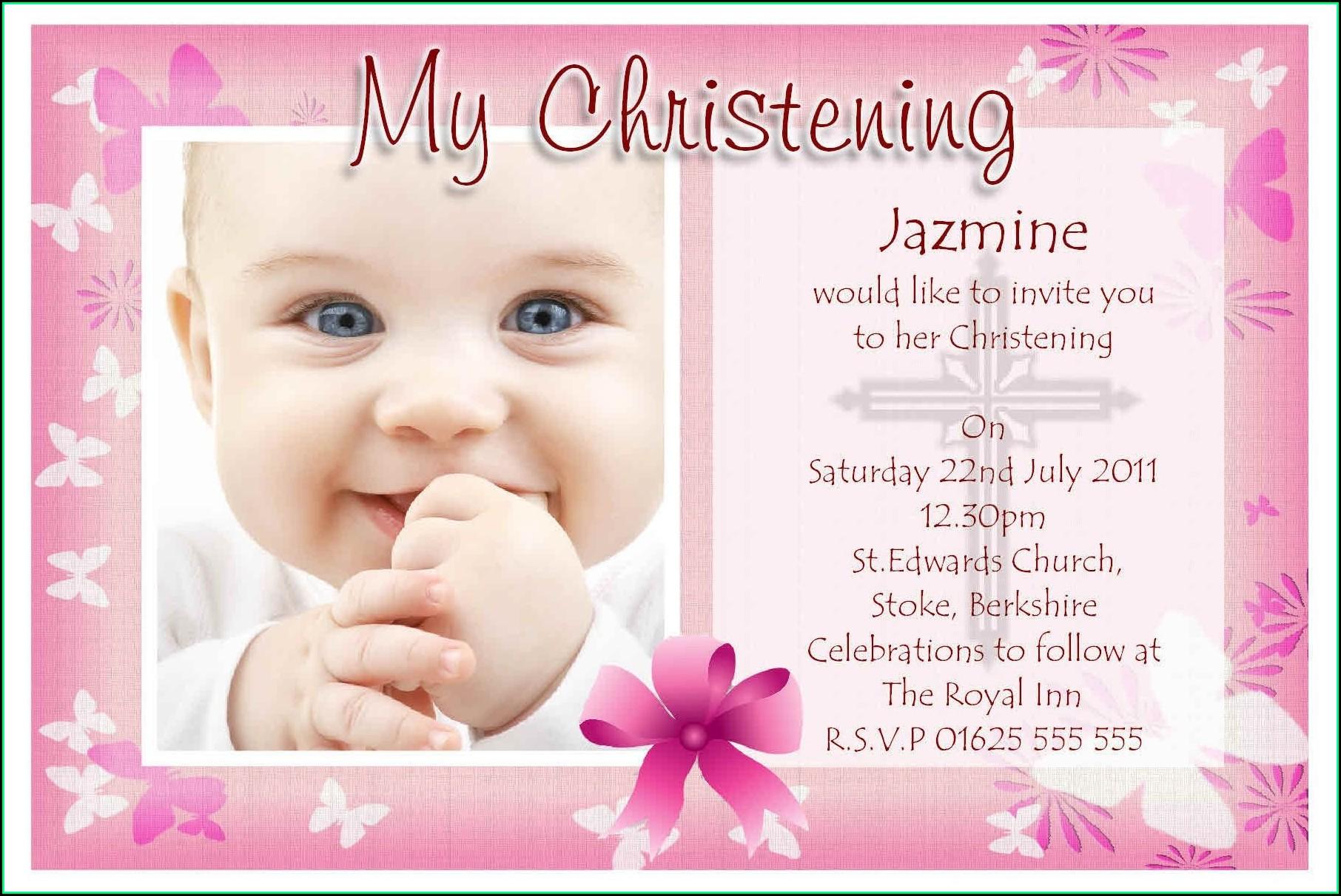 Girl Baptism Invitations Free Templates