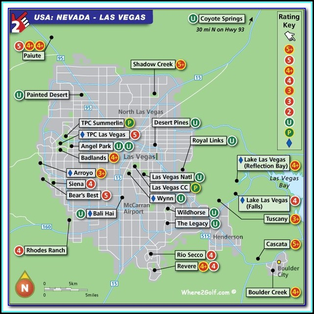 Golf Courses In Las Vegas Map