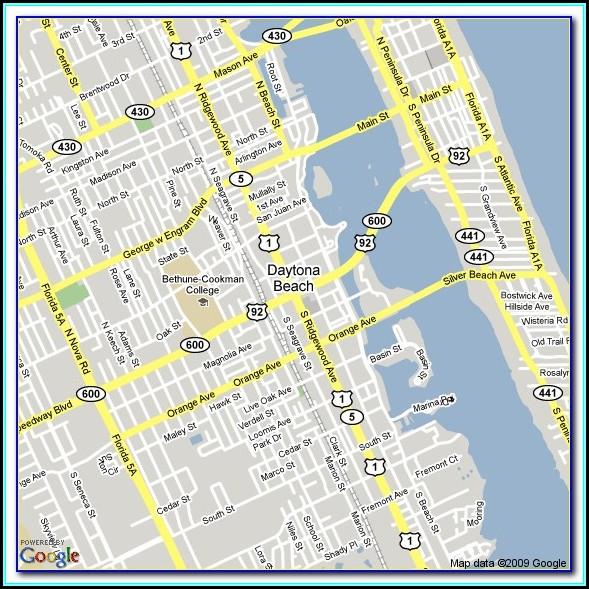 Google Maps Daytona Beach Hotels
