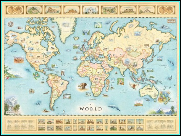 Hand Illustrated World Map