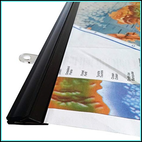 Hanging Rails For Maps