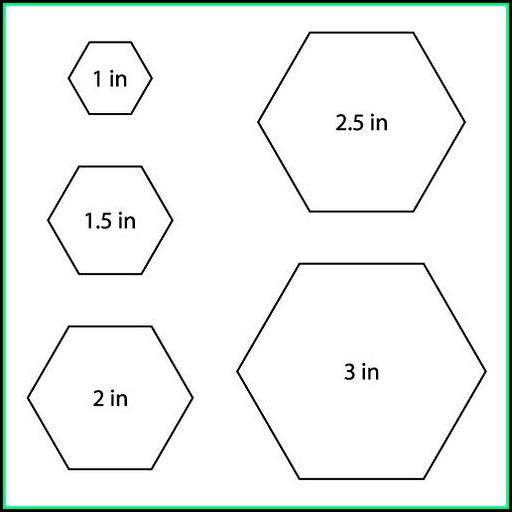 Hexagon Quilt Template