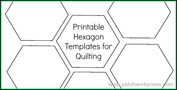 Hexagon Quilting Template