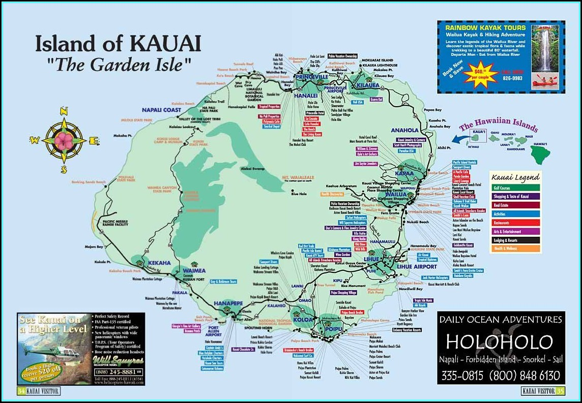 Kauai Hotels Map