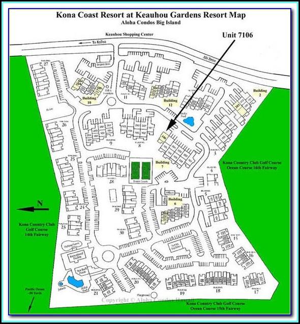 Kona Coast Resort Building Map
