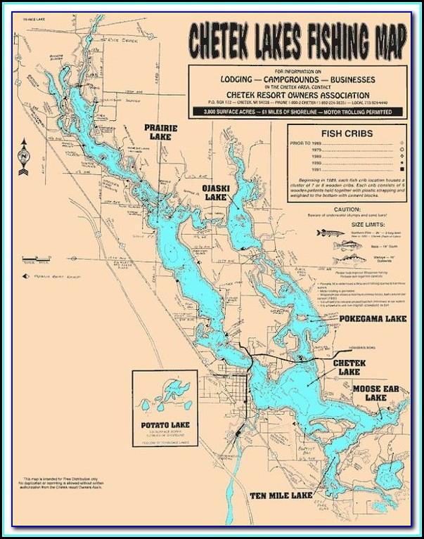 Lake Aldred Fishing Map