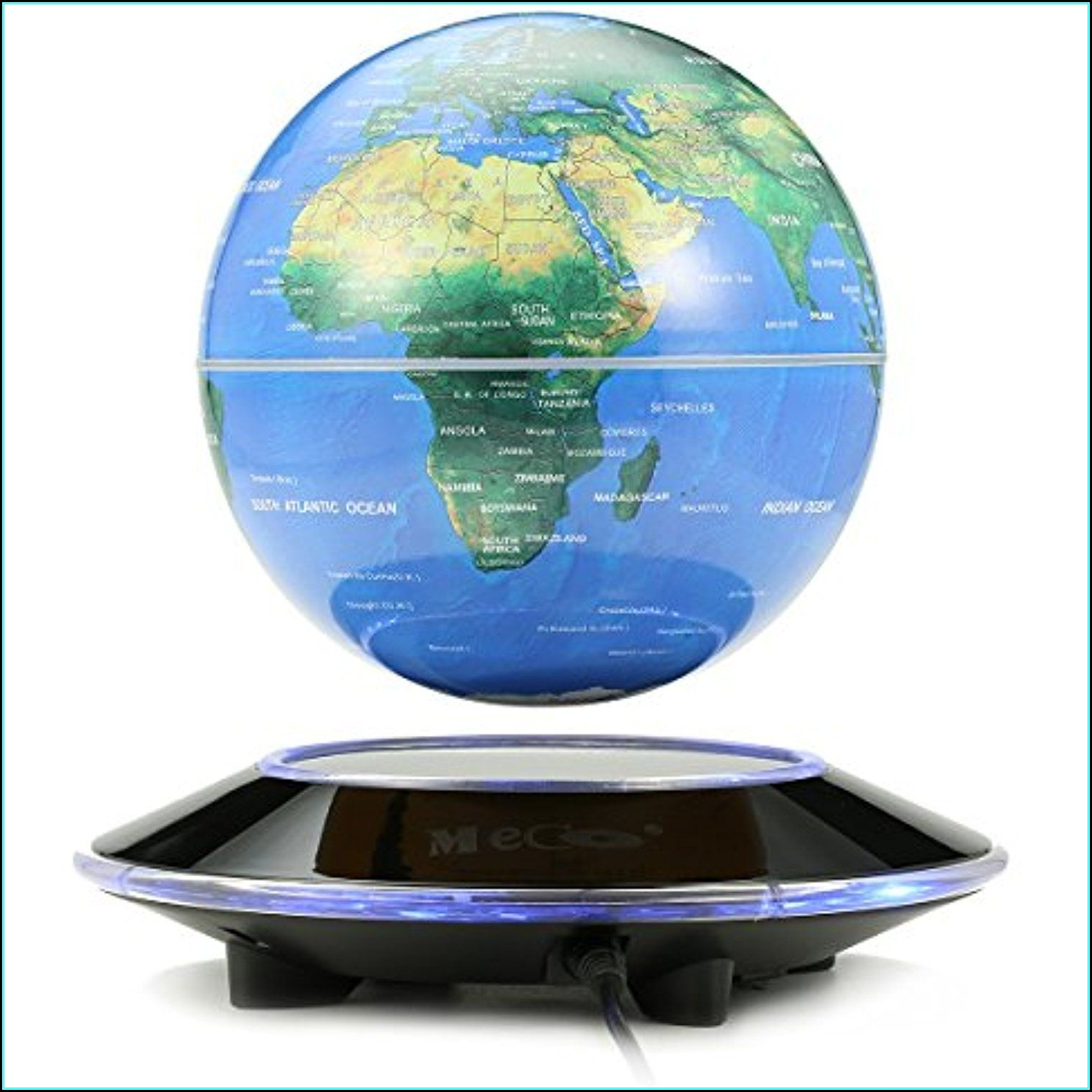 Magnetic Levitation Floating Globe Rotating World Map