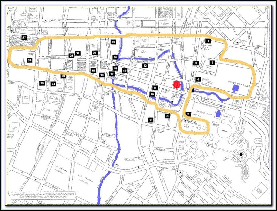 Map Of All Hotels On San Antonio Riverwalk
