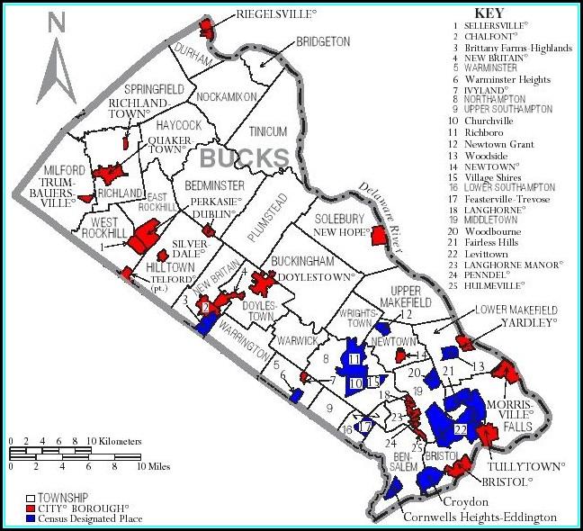 Map Of Bucks County Pa