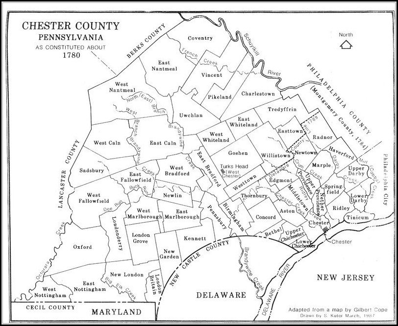 Map Of Chester County Pa
