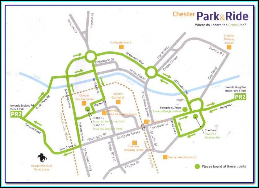 Map Of Chester Park And Ride