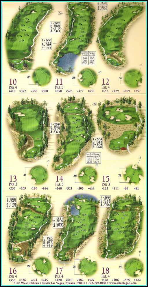 Map Of Golf Courses In Las Vegas Nevada