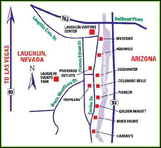 Map Of Hotels In Laughlin Nevada