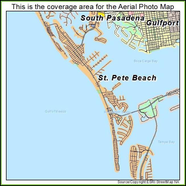 Map Of St Pete Beach Fl