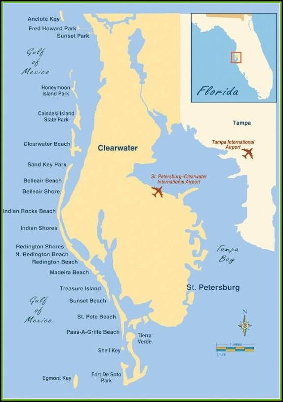 Map Of St Petersburg Beach Florida