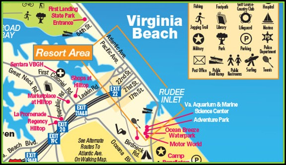 Map Of Virginia Beach Hotels Oceanfront