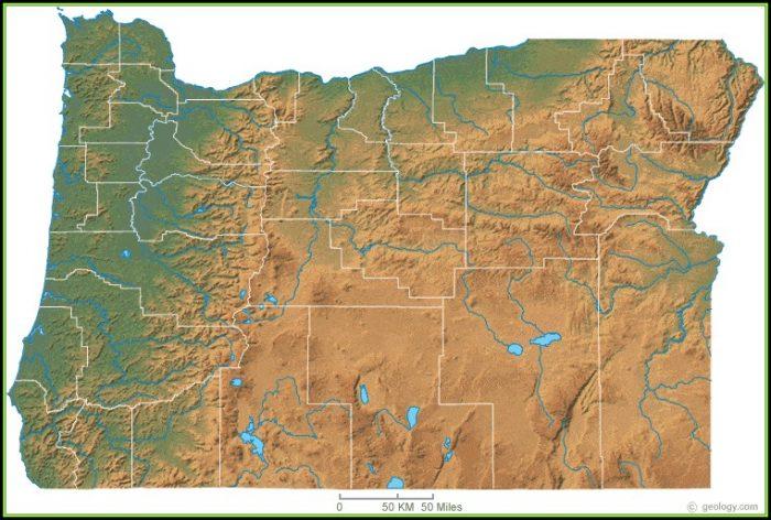 Oregon Topographic Map