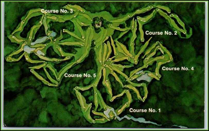 Pinehurst Nc Golf Courses Map