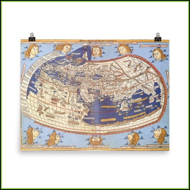 Ptolemy World Map Poster