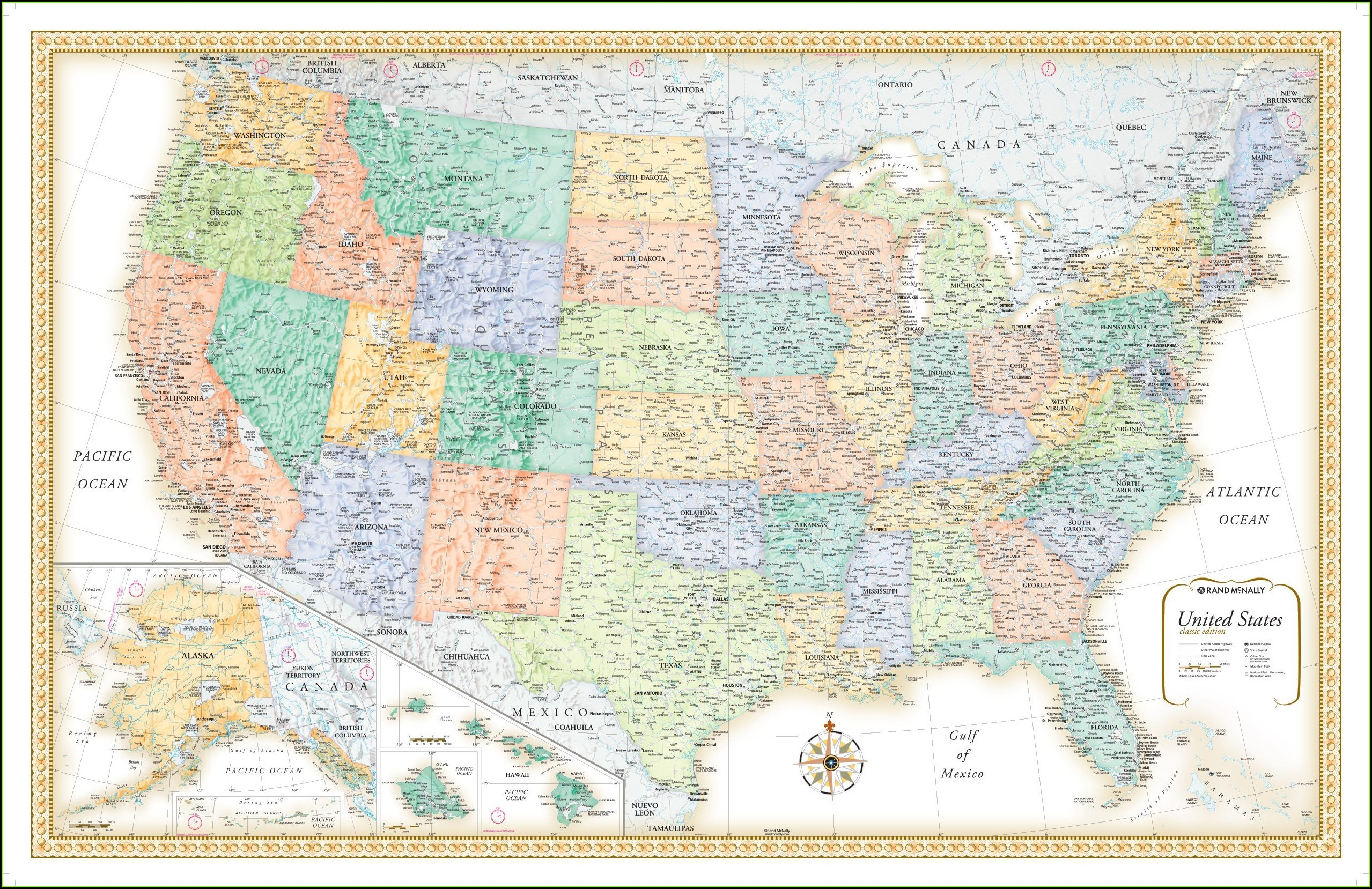 Rand Mcnally Us Map