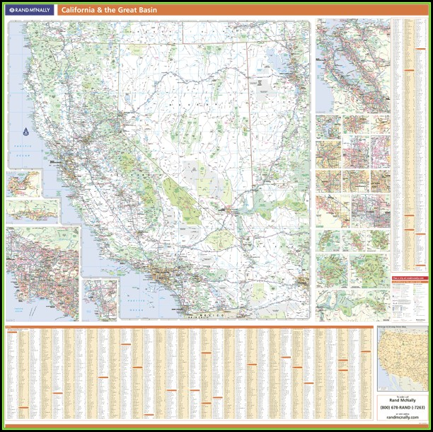 Rand Mcnally Western Us Map