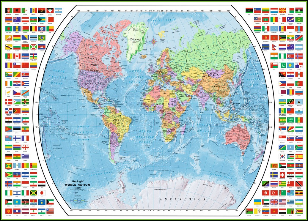 Ravensburger Puzzle Political World Map (1000 Pieces)