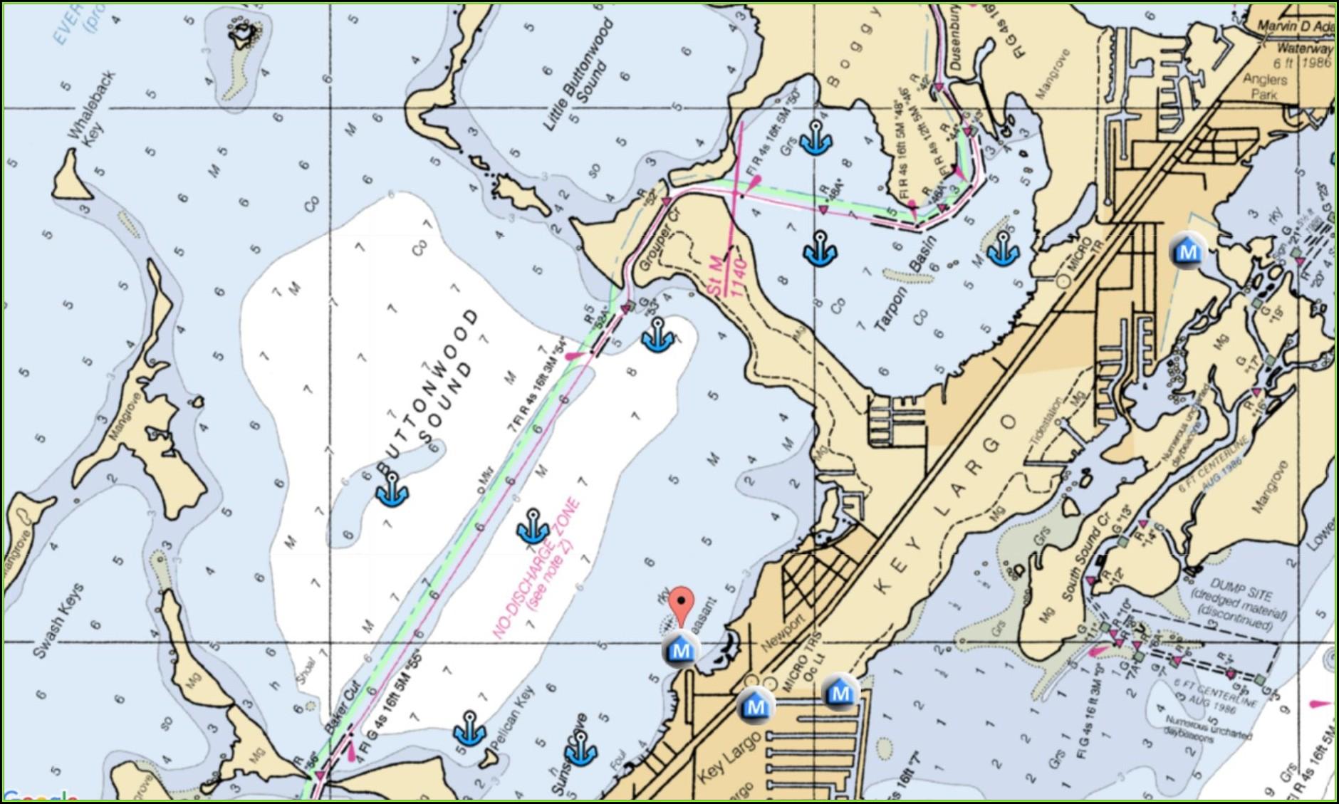 Sailing Charts Maps