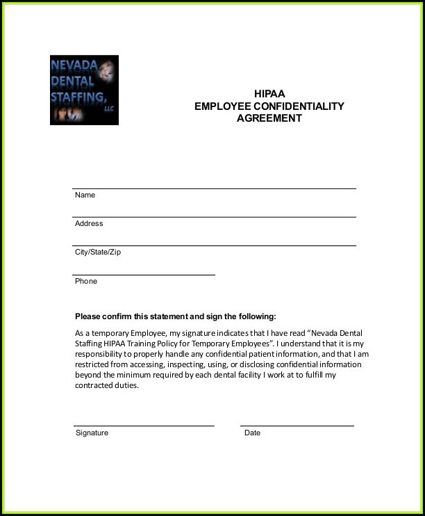 Sample Hipaa Form For Employees