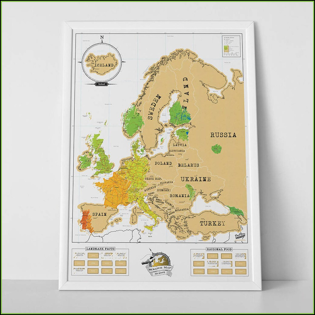 Scratch Map Europe Luckies