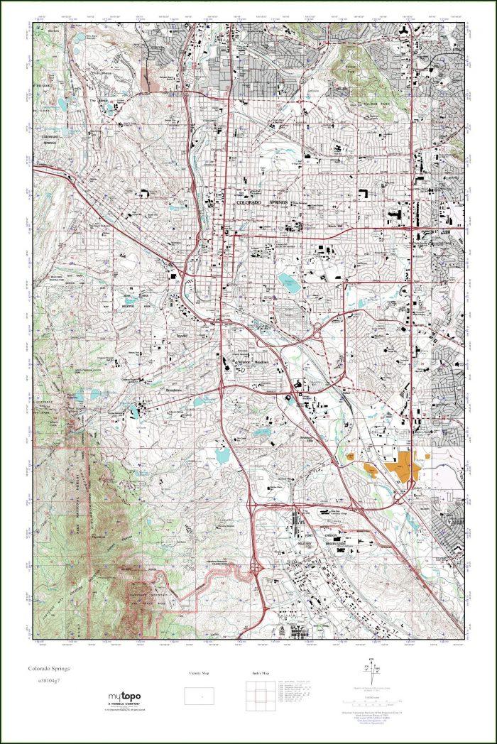 Topo Map Colorado Springs