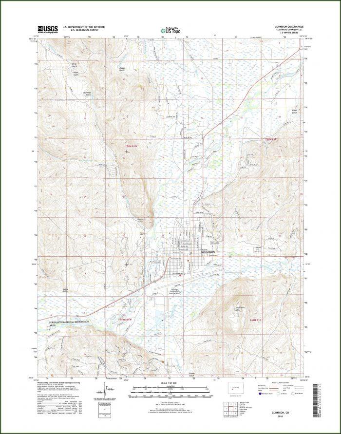 Topo Map Gunnison Colorado