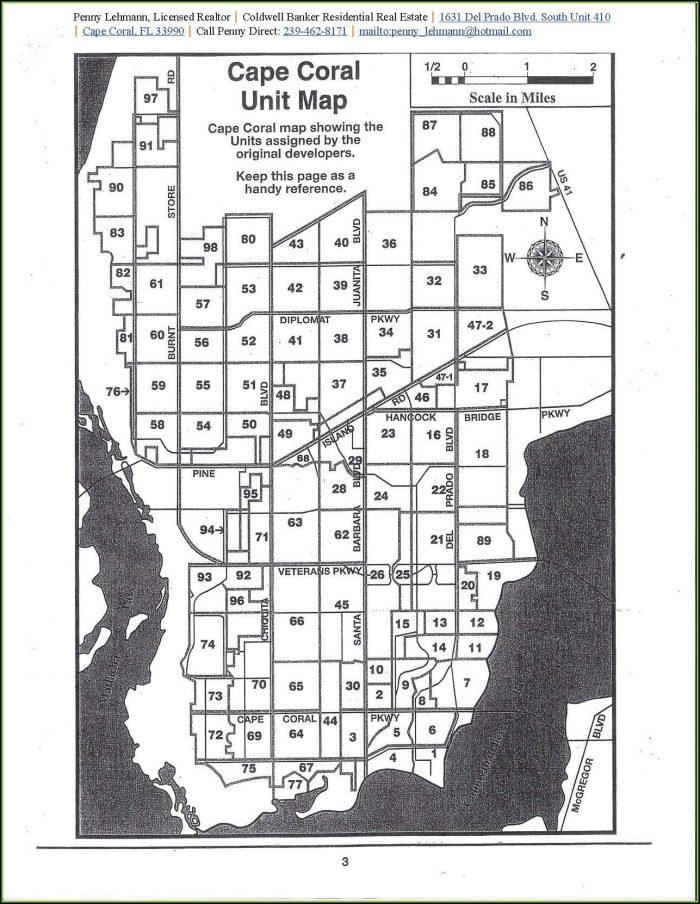 Unit Map Cape Coral Florida