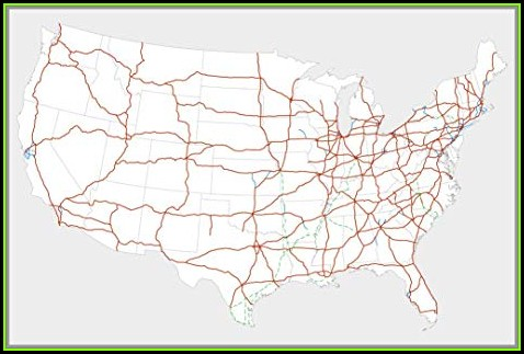 Us Map Of Interstate Highway System