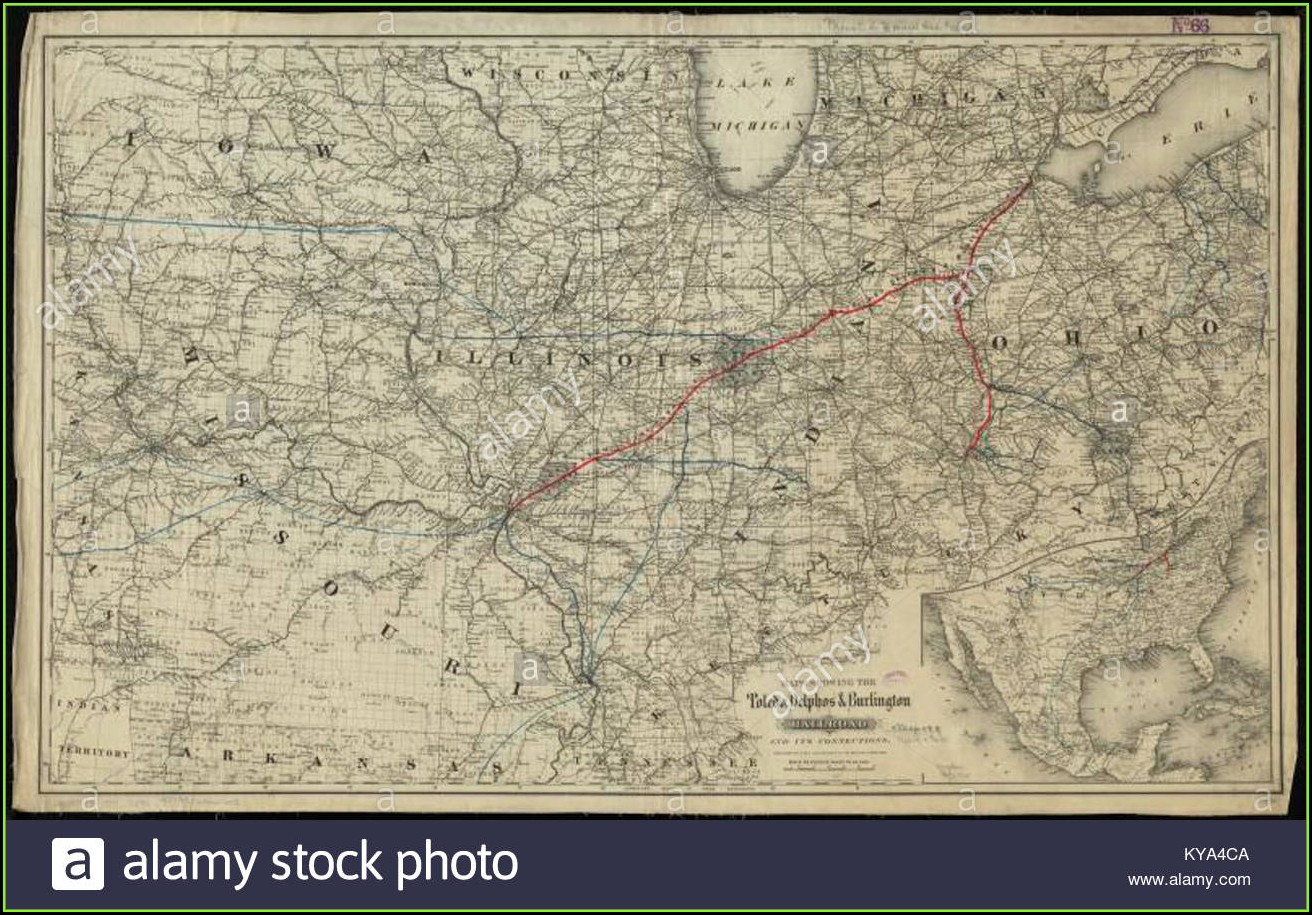 Vintage Railroad Maps